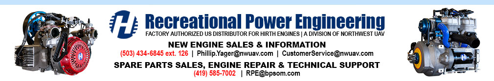 Recreational Power Engineering of Tiffin Ohio - Factory Authorized U.S. Distributor of Hirth Aircraft Engines